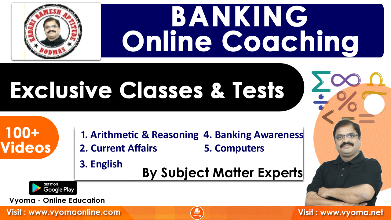 Banking Coaching | EM | Exclusive Classes & Tests By BODMAS  24
