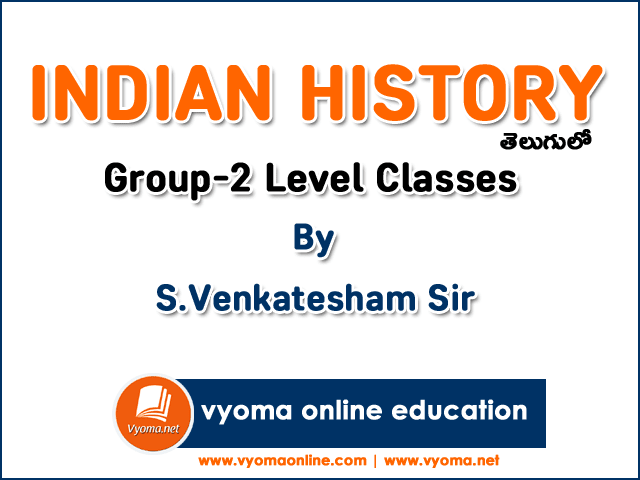 Indian History Online Classes in Telugu By Venkatesham Sir | Group 2 Level | SRS Academy  11